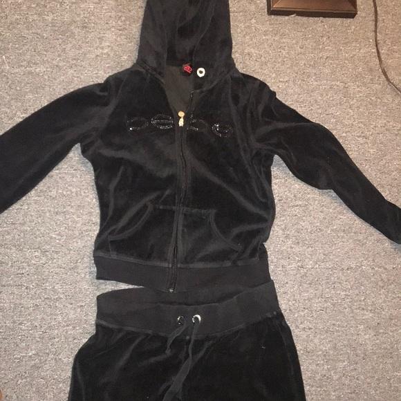 9d880098aed 2B Bebe Other | Bebe Velour Sweat Suit Black | Poshmark